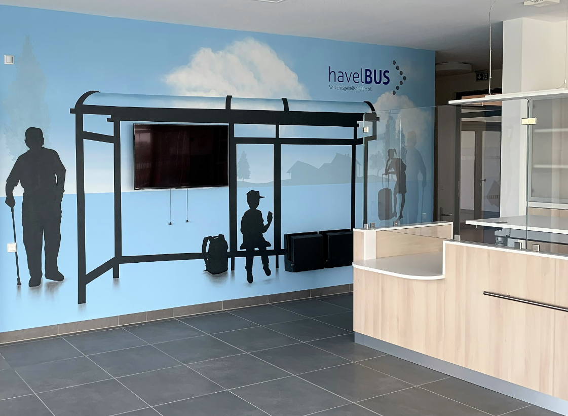 Erstes Havelbus-Kundenbüro in Falkensee